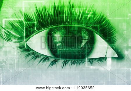 Security Technology with Optical Scan as a Concept