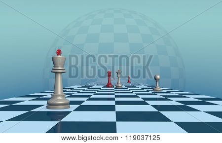 Lonely King (chess Metaphor)
