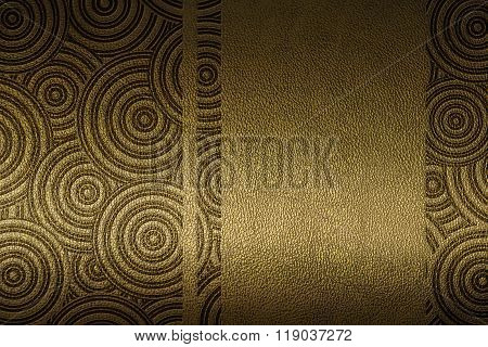 leather with embossed patten