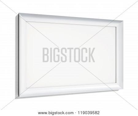 White Frame On A White Background. 3D Rendering