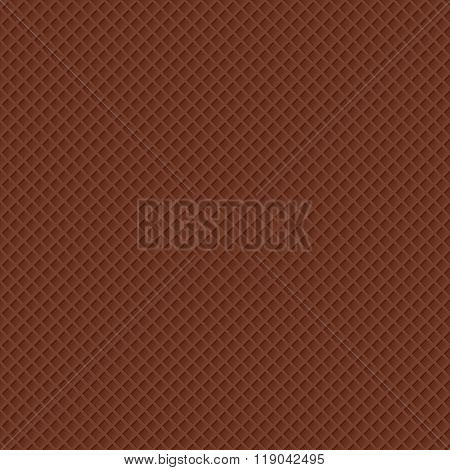 vector illustration of seamless chocolate waffle pattern