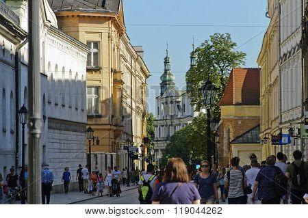 Grodzka Street In Krakow