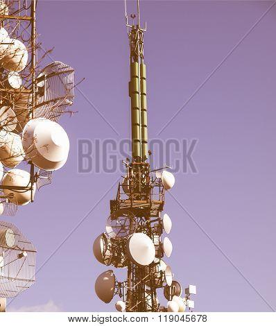 Communication Tower Vintage