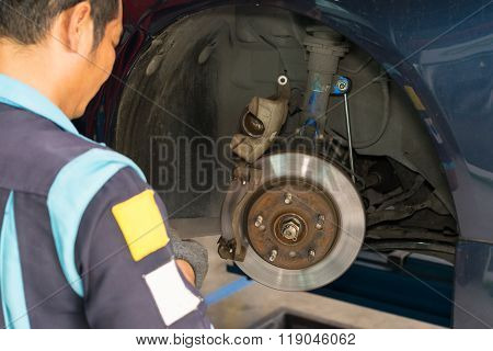 Checking Car Brake System