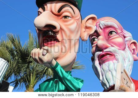 Charles De Gaulle And Moses - Carnival Of Nice