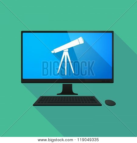 Personal Computer With A Telescope