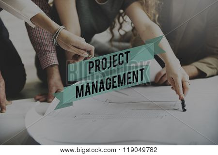 Project Management Manager Managing Business Concept