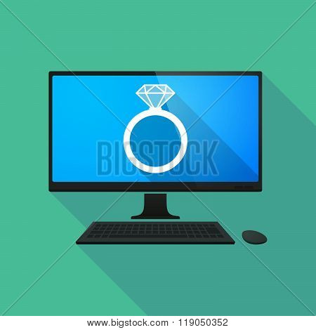 Personal Computer With An Engagement Ring