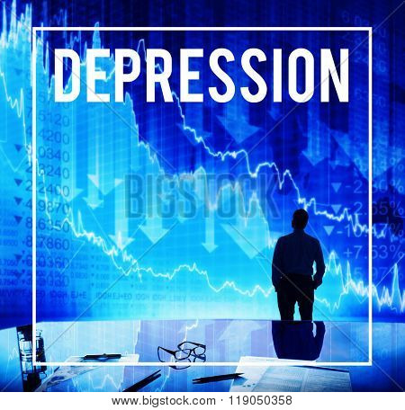 Depression Despair Recession Disorder Economic Concept