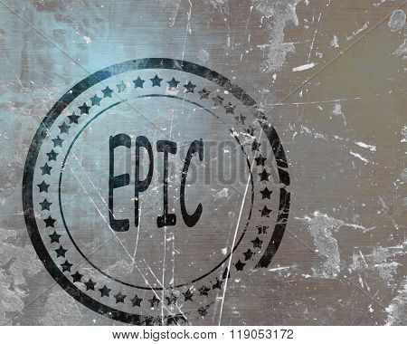 Epic stamp on a grunge background