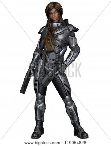 Future Soldier, Black Female, Standing