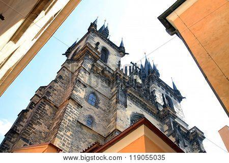 Prague, Czech Republic - April 24, 2013: Church Of Our Lady Before Tyn, Prague, Czech Republic