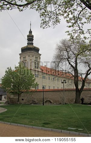 Kutna Hora, Czech Republic - April 29, 2013: Jesuit College In Kutna Hora, Czech Republic