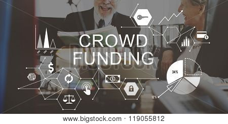 Crowd Funding Supporters Investment Fundraising Contribution Concept