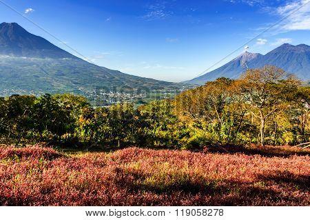 Triple Volcano View, Antigua, Guatemala