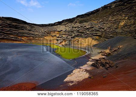 Sky  Water  In El Golfo Lanzarote   Pond Rock Stone  Coastline