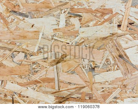 Close Up Texture Of Oriented Strand Board - Osb