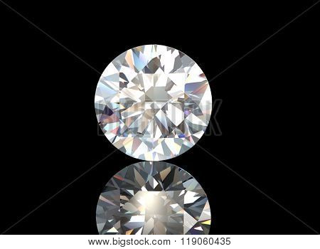 Gemstone on white. Jewelry background. Diamond.