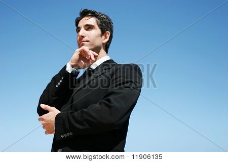 Successful businessman showing confidence