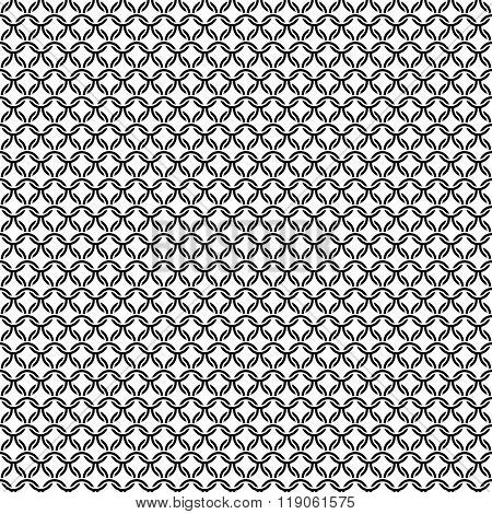 Chain Armor Black Circle Elements Seamless Pattern Background Texture