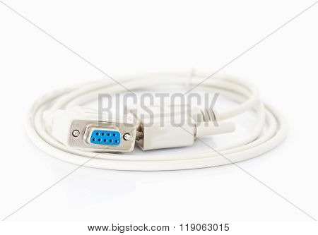 Vga Cables Connector With White Cord