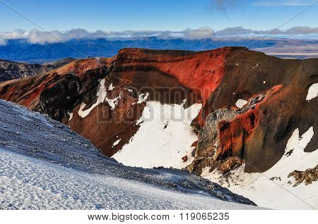 View From The Red Crater In The Tongariro National Park, New Zealand