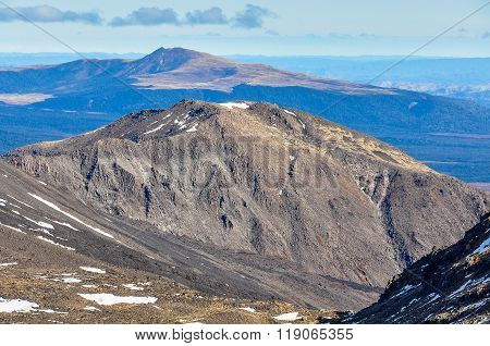 Mountain View In The Tongariro National Park, New Zealand