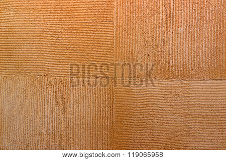 Wall texture Travertine orange brown square Paint background.