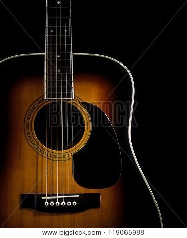 Body Of An Acoustic Flat Top Guitar