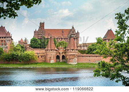 Malbork (marienburg) Castle In Pomerania, Poland.