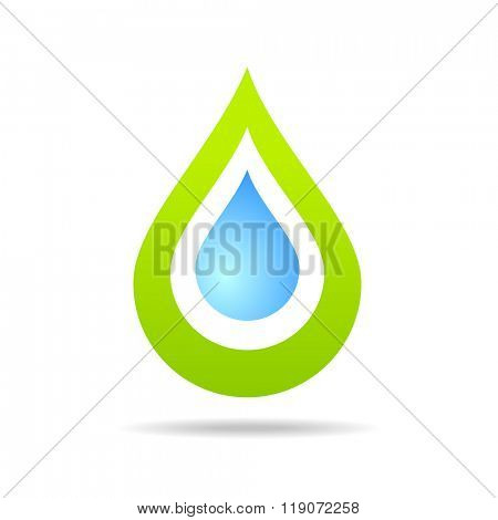 Water drop. Clear water - concept symbol. Eco water icon.