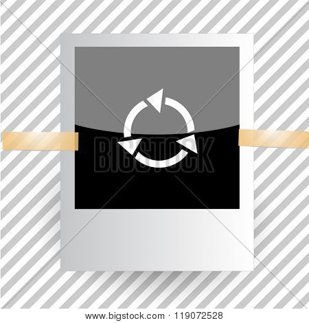 recycle symbol. Photoframe. Raster icon.