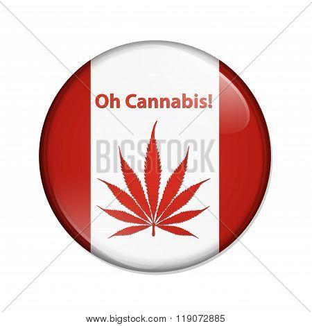 Oh Cannabis Marijuana In Canada Button