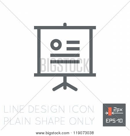 Thin 2px line vector icon for user interfaces