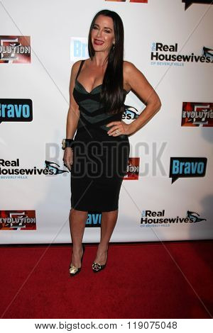 LOS ANGELES - DEC 3:  Kyle Richards at The Real Housewives of Beverly Hills Premiere Red Carpet 2015 at the W Hotel Hollywood on December 3, 2015 in Los Angeles, CA
