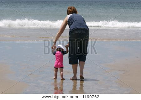 First Steps At The Beach
