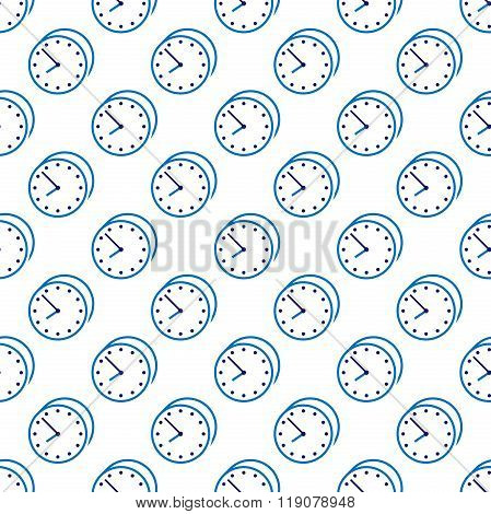 Stylish Clock Seamless Pattern