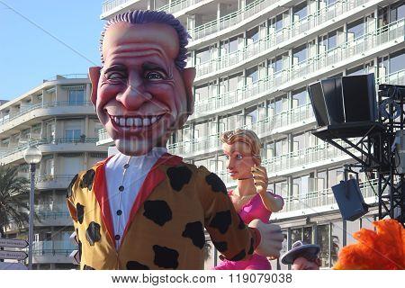 Silvio Berlusconi Bunga Bunga - Carnival Of Nice