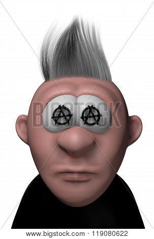 Punk Cartoon Guy