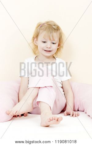 sitting little girl
