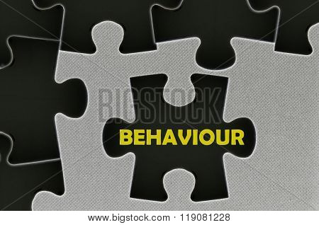 The Black Jigsaw Puzzle Written Word Behaviour