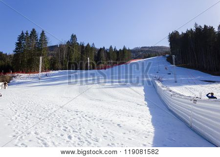 HINTERSTODER,  AUSTRIA - February 22, 2016: Countdown, The Austrian team is working at full speed to