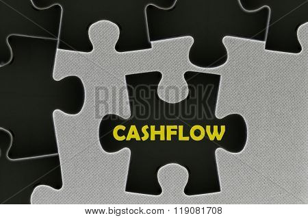 The Black Jigsaw Puzzle Written Word Cashflow