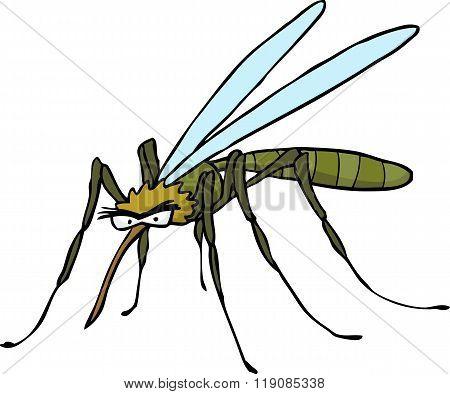 Cartoon Doodle Mosquito