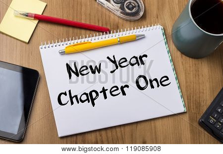 New Year Chapter One - Note Pad With Text