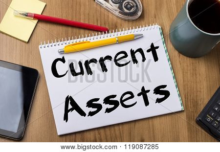Current Assets - Note Pad With Text