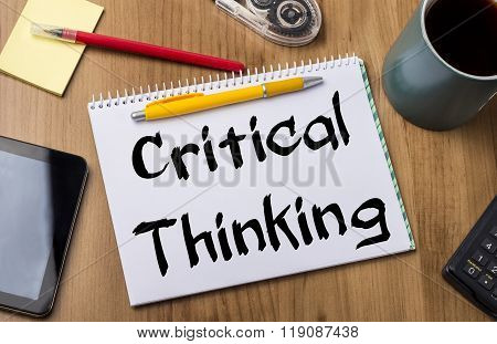 Critical Thinking - Note Pad With Text