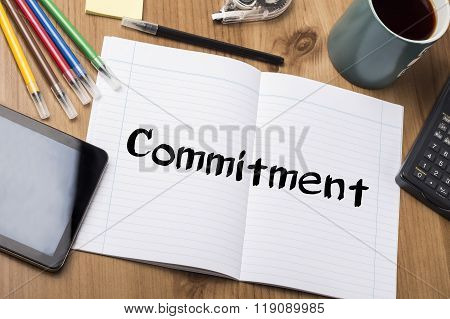 Commitment - Note Pad With Text