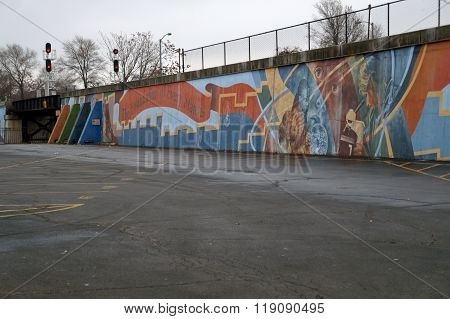 Joliet High School Centennial Mural