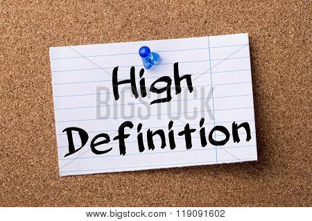 High Definition - Teared Note Paper Pinned On Bulletin Board